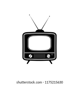 Retro tv icon. Vector illustration.