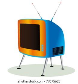 retro tv icon vector illustration