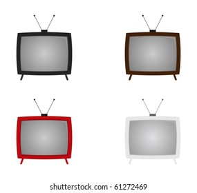 retro tv set - vector - eps 10