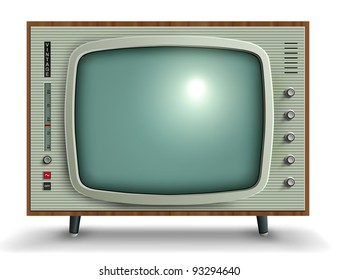 Retro tv, vector illustration.