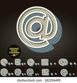 Retro type font collection. Vector illustration of vintage Symbols  2