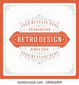 Retro typographic design elements. Template for design invitations, posters and other design. Flourish and calligraphic.