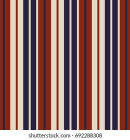 Retro usa Color fashion style seamless stripes pattern. Abstract vector background.