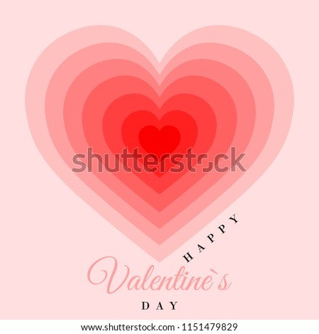 Retro Valentine Card Hearts Greeting Card Stock Vector Royalty Free