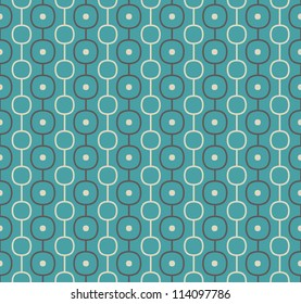 Retro Vector Abstract Atomic Era Background Pattern