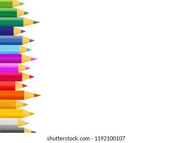 retro vector paint pencils