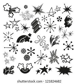 Retro Vector Stars and Starbursts
