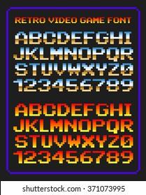 Retro video game font