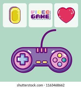 Retro videogames cartoons