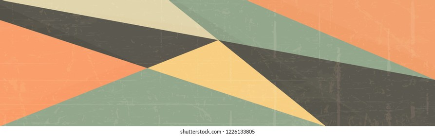 Retro Vintage Background, Abstract Lines Layout. Retro Banner.