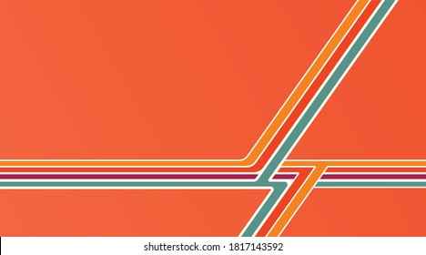Retro vintage background pattern. Vintage stripe, banner, poster layout.