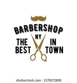 Retro Vintage Barbershop Badge Logo