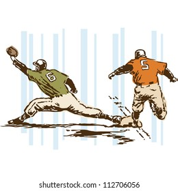 Retro Vintage Baseball Sports Vector