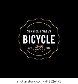 Retro Vintage Bicycle Label Design and Logo