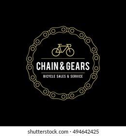 Retro Vintage Bicycle Label Design and Logo