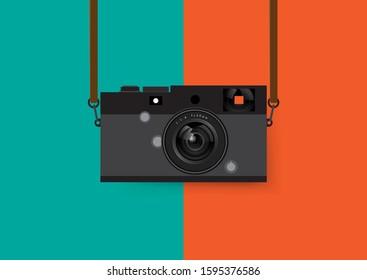 Retro and vintage camera, Vector