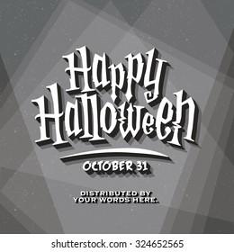 Retro Vintage Cinematic End Credits - Halloween - Vector Background