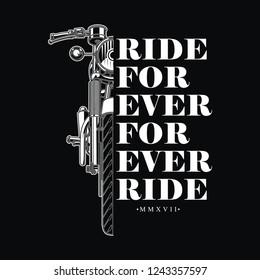 Retro vintage design  for biker. Applicable for poster, badge, shirt design