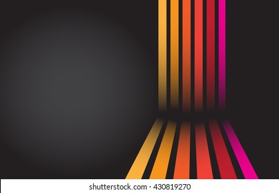 Retro, vintage, disco, funky background. Vector art.