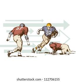 Retro Vintage Football Sports Vector