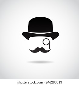 Retro, vintage gentleman. Vector illustration.