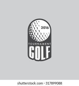 Retro Vintage Hipster Golf Vector Logo.