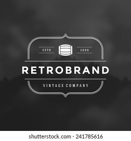 Retro Vintage Insignia or Logotype Vector design element, business sign template.