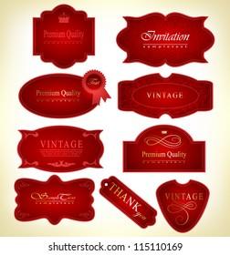 Retro vintage label.