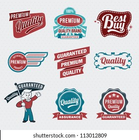 retro vintage labels for print and web
