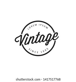 Retro Vintage or Logotypes. Vector design elements, logos, identity, labels, badges. - Vector
