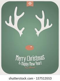Retro Vintage Minimal Merry Christmas Background