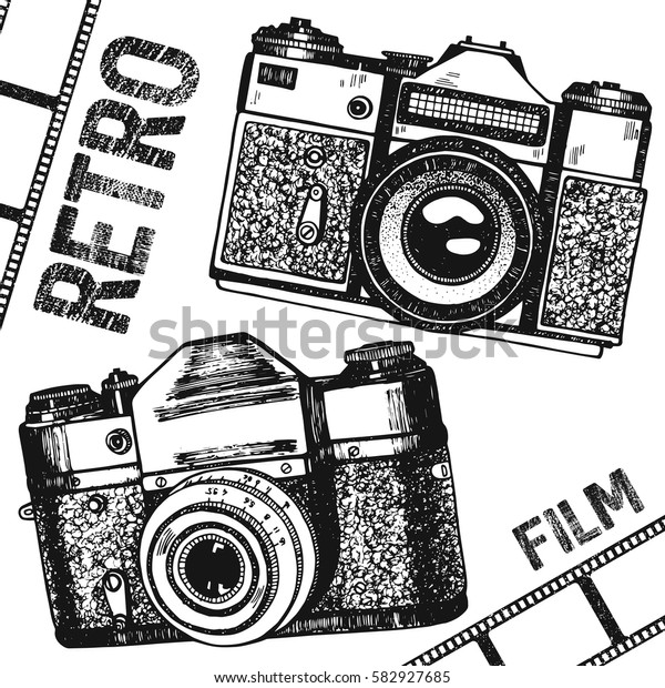Image Vectorielle De Stock De Film De Camera Retro Vintage