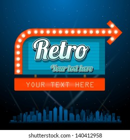 Retro vintage sign with copyspace
