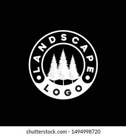 Retro Vintage Spruce, , Pines Logo Template