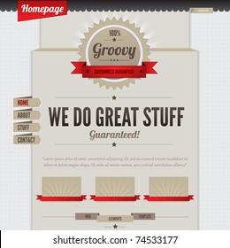 Retro Vintage Styled Website Template design frame