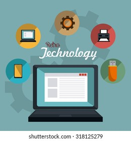Retro and vintage technology graphic design, vector illustration