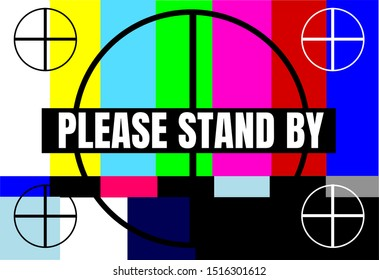 Retro vintage television test pattern with circles