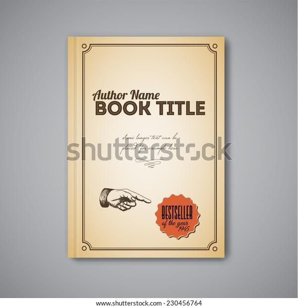 Retro vintage Vector abstract brochure / book / flyer design template