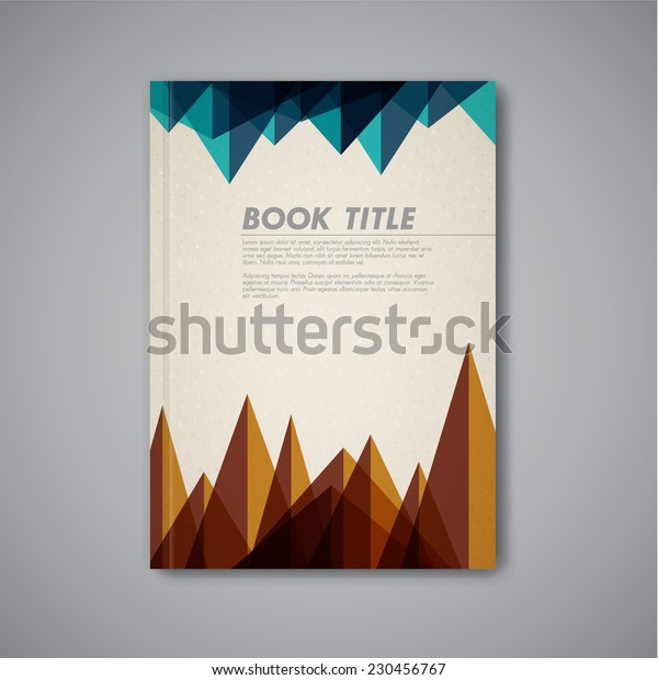 Retro vintage Vector abstract brochure / book / flyer design template