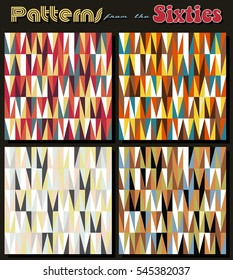 Retro Vintage Vector Patterns Set from the Sixties Populuxe Wallpapers Collection