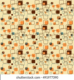 Retro Vintage Wallpaper Pattern from the Sixties