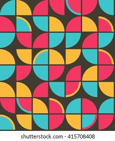 Retro Vintage Wallpaper Seamless Pattern from Sixties