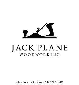 Retro Vintage Woodworking Wood Fore Plane / Jack Plane Logo design