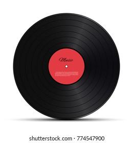 Retro vinyl disk. Vector illustration.