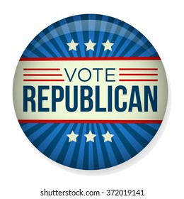 Retro Vote Republican Campaign Button