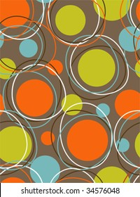 retro wallpaper - abstract seamless  pattern vector 80s