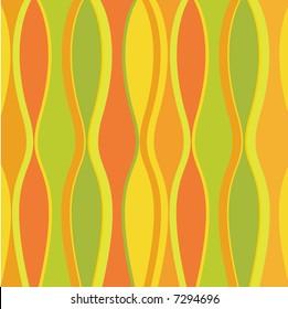 Retro waves in bright citrus colors