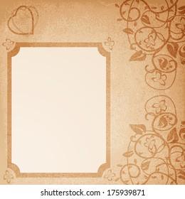 Retro wedding card. Vector illustration