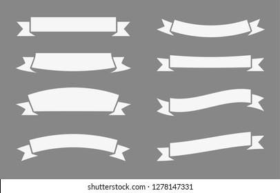 Retro white ribbons