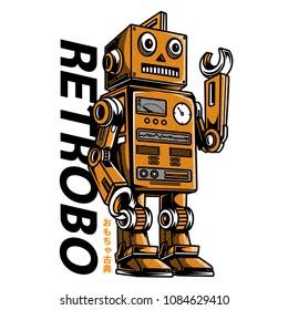 Retrobo Toys Illustration